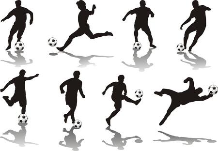 giocatore di calcio isolata on white