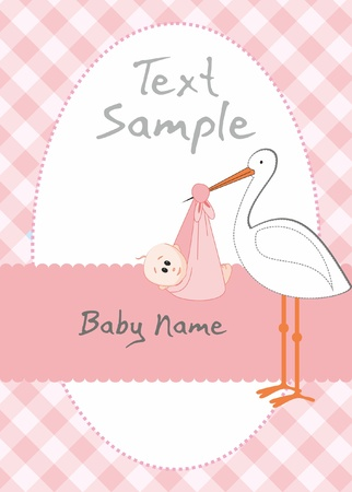 stork: Baby girl arrival announcement