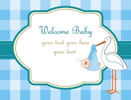 Baby boy arrival announcement
