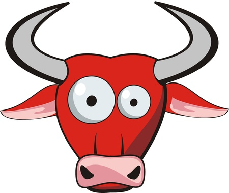 bull head: Cartoon Bull