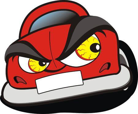 funny car: car cartoon Illustration