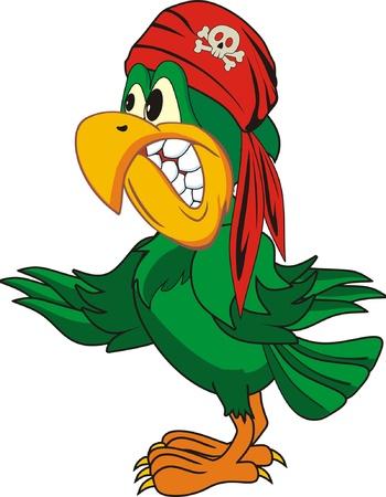 cartoon parrot: parrot Illustration