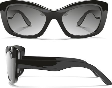 fashion bril: zonnebril Stock Illustratie