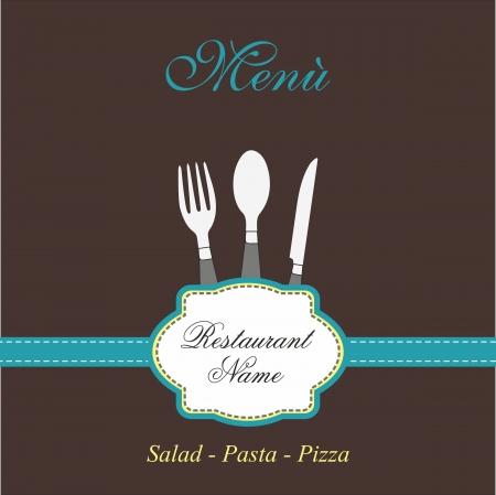 plato pasta: men� de dise�o Vectores