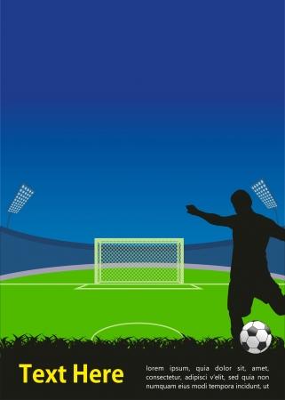jugadores de soccer: f�tbol poster