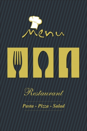 chef illustration: menu design