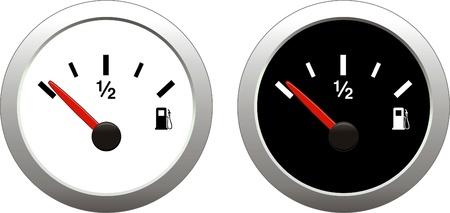 Brandstof indicator Stock Illustratie