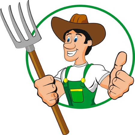 farmer man cartoon Vector
