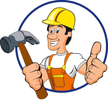 the hammer: martillo hombre Vectores