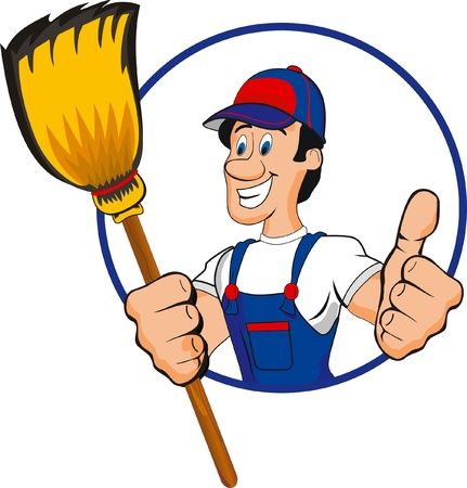 mop: professional cleaner Illustration