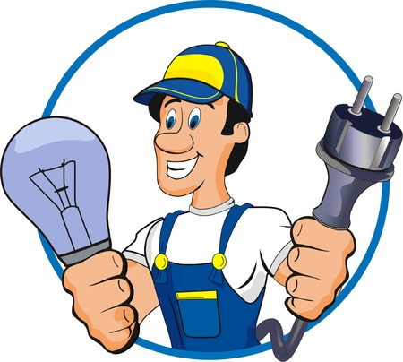craftsmen: electrician Illustration