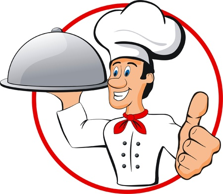 happy chef Illustration