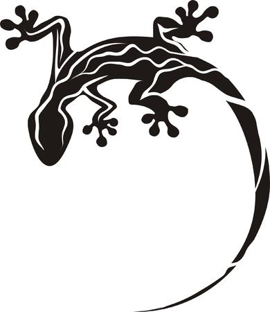stencil: Geco tatuaggio