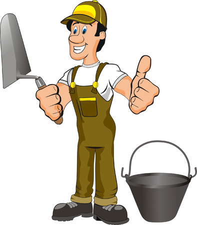 work workman: illustration of a mason