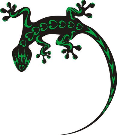 salamander: geco tatuaggio Vettoriali