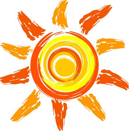 sun sign: sun Illustration