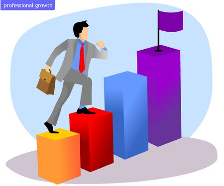 business man is climbing the world of work quickly. Objective to be achieved Фото со стока - 146162386