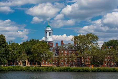 Eliot house, Harvard University, Cambridge Massachusettes. On the bank of the Charles River