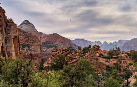 Zion Nation Park, Utah. Georgeous landscape and rocky terrain.