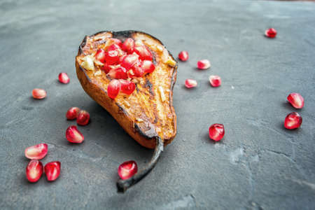 Baked Pear with pomegranate