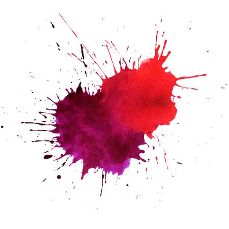Multi-splash bicolor watercolor blob. Design element