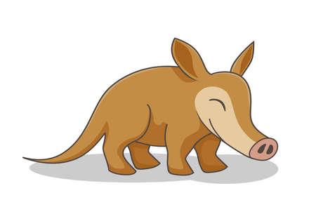 Aardvark Cartoon Vector Image Isolated