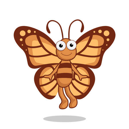 Butterfly Cartoon Cute Animals Vector Image