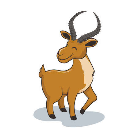 Impala Cartoon Cute Antelope Mountain Goat
