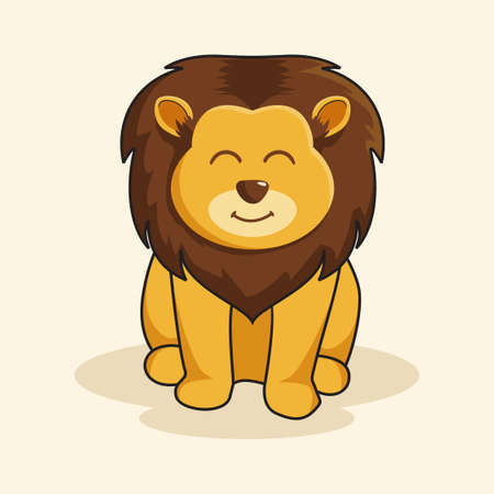 Lion King Cartoon Cute Animals Illustration