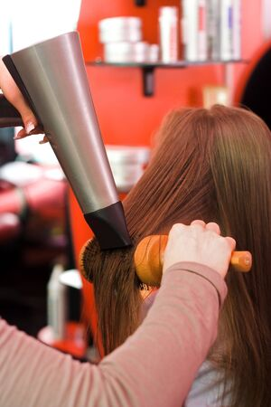 Fast hair drying at the hair stylist Stock Photo - 2457983