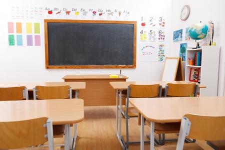Empty class room of elementary school