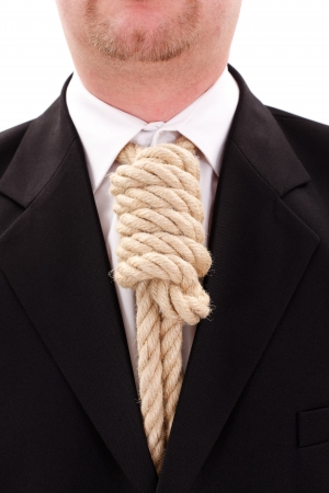 gallows: Gallows rope necktie in place of tie