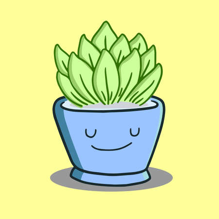 plant mascots in pots, very cute and adorable.