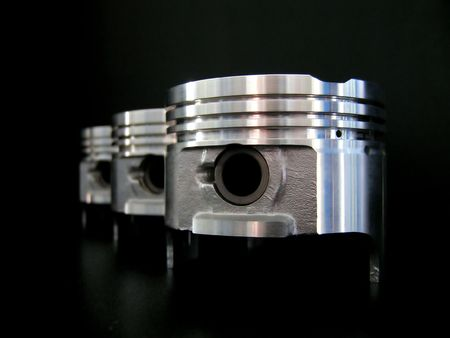 Pistons isolated on black