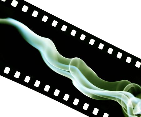 oldies: Film strip with abstract colorful smoke