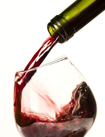 Pouring red wine Stock Photo - 3984098