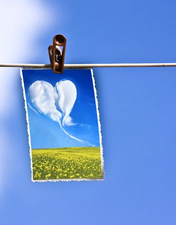 Photo hanging on a clothesline Stock Photo - 5355027