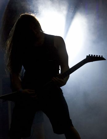 Guitarist silhouette  photo