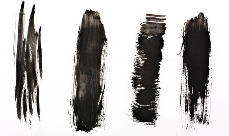 Black grunge watercolor banners photo
