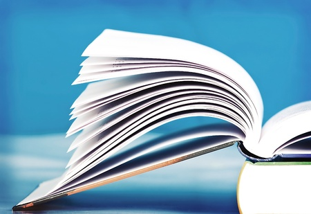 legal document: Open book  Stock Photo
