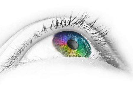 Colorful eye photo