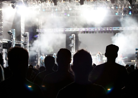 live happy: Crowd at concert