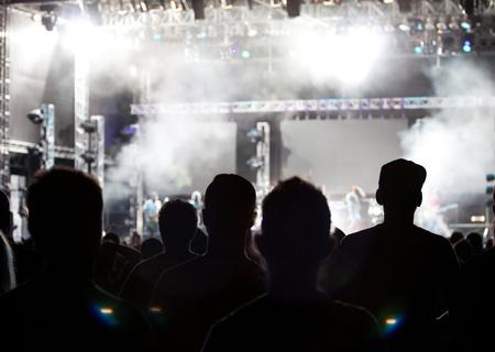 live entertainment: Folla al concerto