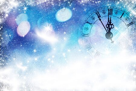 new years eve: New Year s at midnight Stock Photo