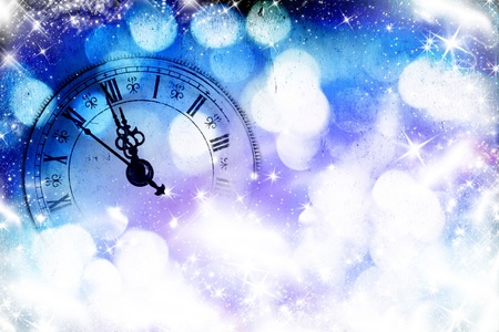 happy hour: New Year s at midnight Stock Photo