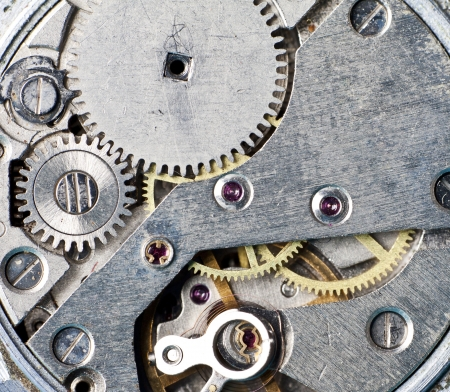 Close-up of old clock mechanism  photo