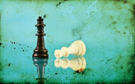 Vintage photo of chess pieces photo