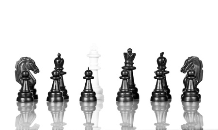 Black chess figure isolated on the white background  photo