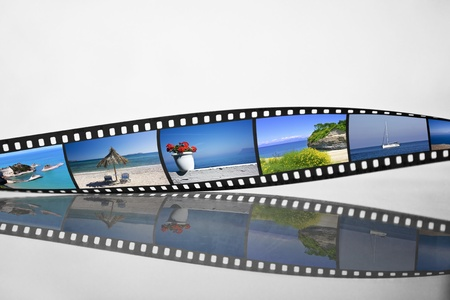 Filmstrip with vacation photos photo