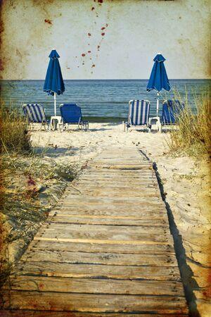 ged: Vintage seascape Stock Photo